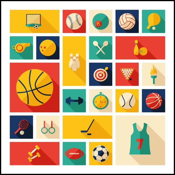 dessin d'accessoires pour le sport
